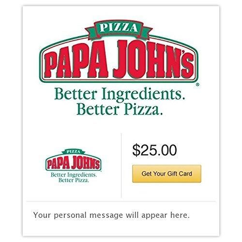 Papa John's Pizza Gift Cards - E-mail Delivery
