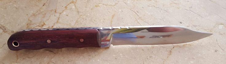File knife, clip point, polished finish