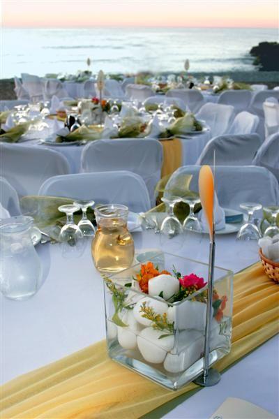 A beach wedding reception at Ag.Marina of Chania-Greece