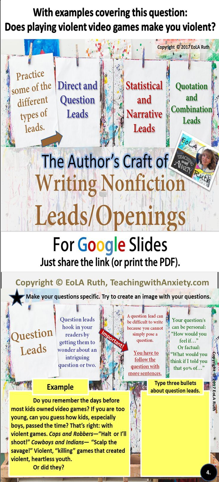 The Author S Craft Of Writing Nonfiction Hooks Leads For Google