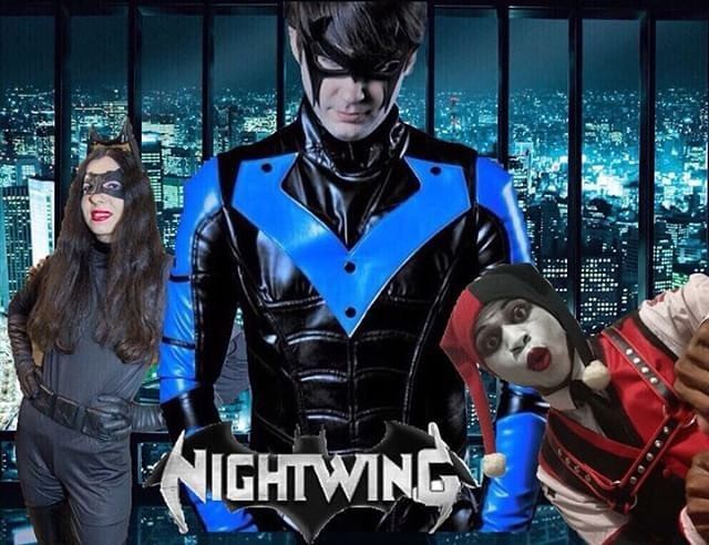 Harley would like to play too!  This is the exclusive version to that same edit I posted awhile ago on here... Again edit made by @vakermaker himself who also stars as our Harley...  Its the Nightwing movie featuring @robbieellinor as Nightwing/Dick Grayson and a special appearance from Catwoman/Selina Kyle who is played by @amandadsassy  A really awesome edit from my good friend @vakermaker I will also show an exclusive version of this pic as well... #Catwoman #SelinaKyle #Nightwing…