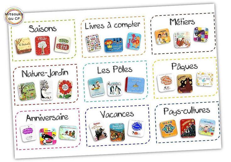 Une nouvelle planche d'étiquettes pour classer les livres par thèmes !