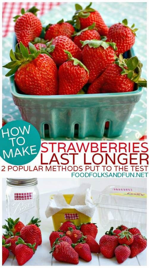 How to make Strawberries Last Longer - 2 Popular Pinterest Methods Put to the Test. The winner kept strawberries fresh for nearly 3 weeks!
