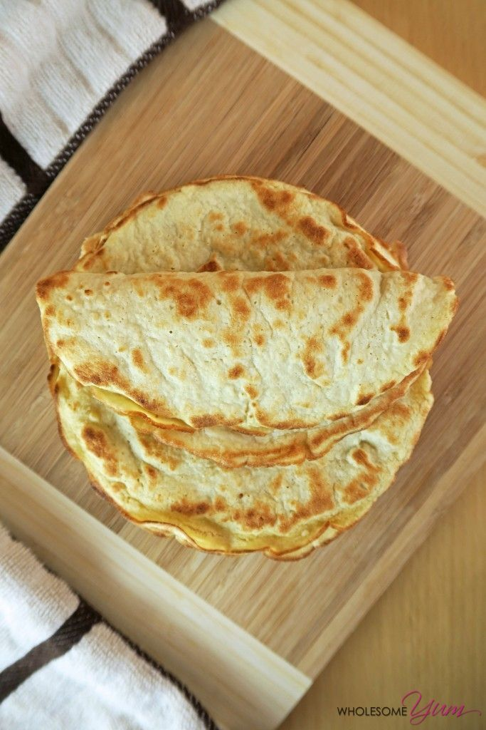 3-Ingredient Coconut Tortillas (Paleo, Low Carb) | Wholesome Yum - Natural, gluten-free, low carb recipes. 10 ingredients or less.