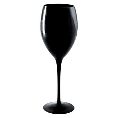 set of 6 wine glasses in midnight black...i want these!!!