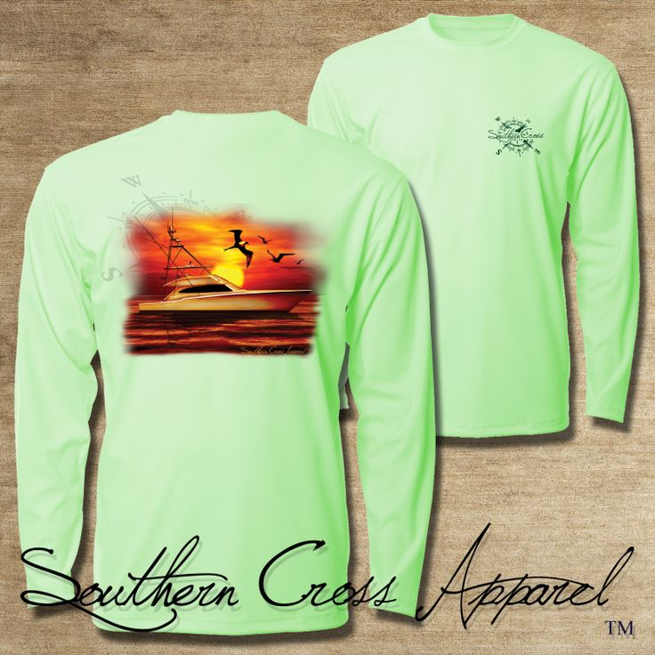 Southern cross apparel performance fishing shirt 50 upf for Moisture wicking fishing shirts