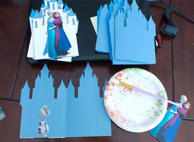 Disney Frozen Invitation Assembly