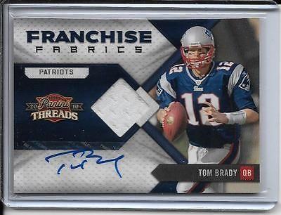 Tom Brady Autograph Jersey 5/5 Patriots 2010 Panini Threads Franchise Fabric #20
