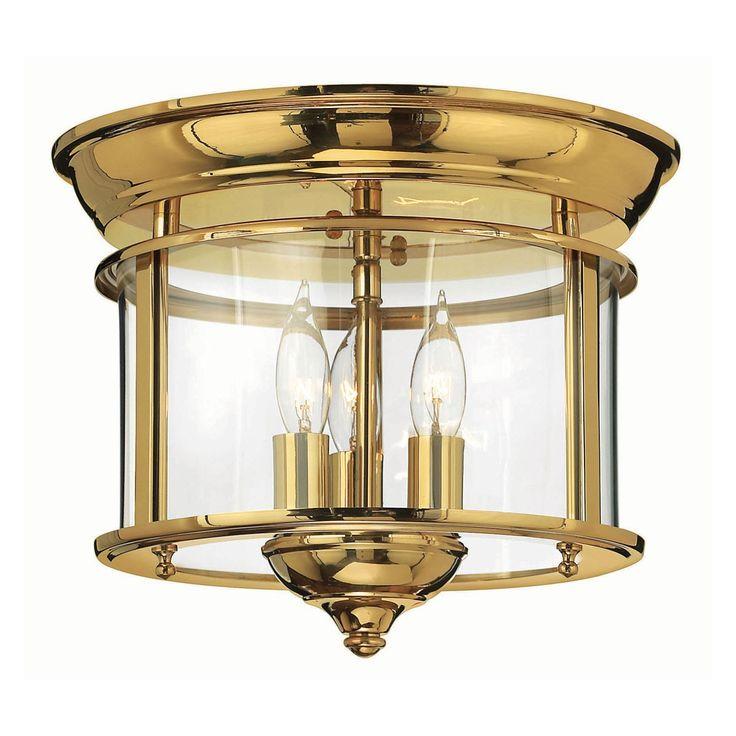 Polished Brass Semi Flush Ceiling Lights