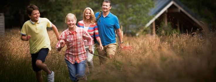 A family enjoying a Forest Holiday in Strathyre.