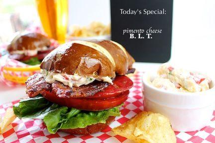Pimento Cheese, Bacon, Lettuce, & Tomato Sandwich — LocalSavour