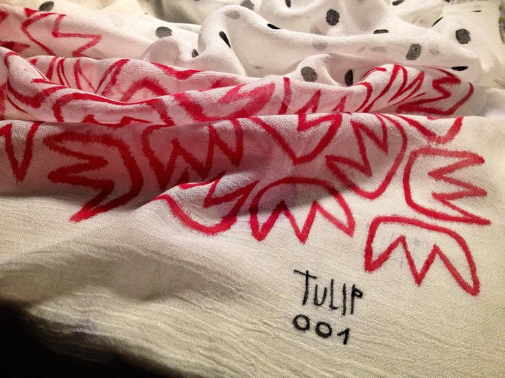 Handpainted foulard. By Tulip