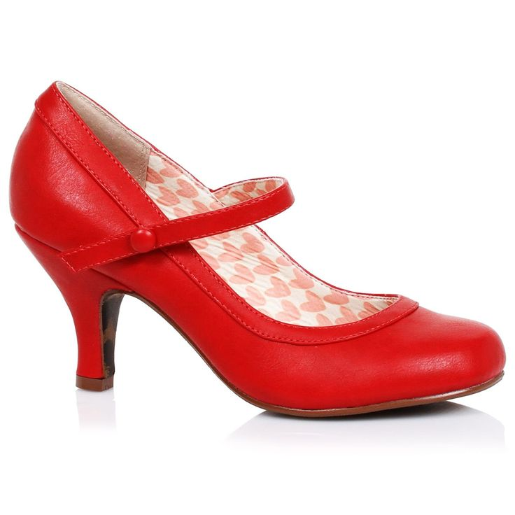 Bettie Page 'Bettie' Mary Jane Shoes - Red | US sizes 6, 7, 8, 9, 10, 11