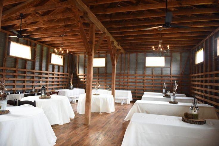 Reception In Historic Warehouse White Cotton Themed Decor The Corner District North Georgia Wedding Atlanta Venuesbarn
