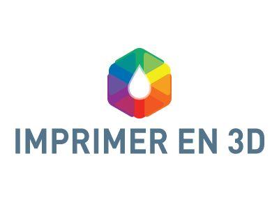 A logo I've designed for imprimeren3d.net, a website about 3D printing.