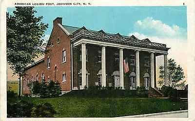 Johnson City New York NY 1920s American Legion Post Collectible Vintage Postcard