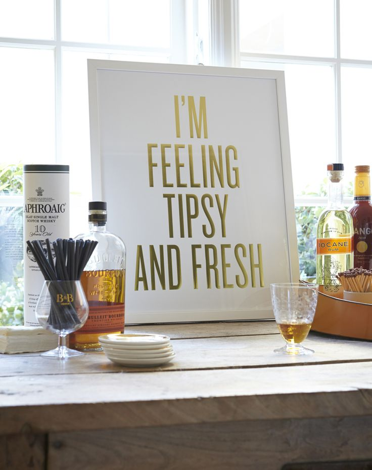 "Read Between the Lines | 16"" x 20"" Framed Art Print - I'M FEELING TIPSY AND FRESH"