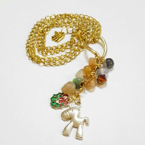 Long horse necklace
