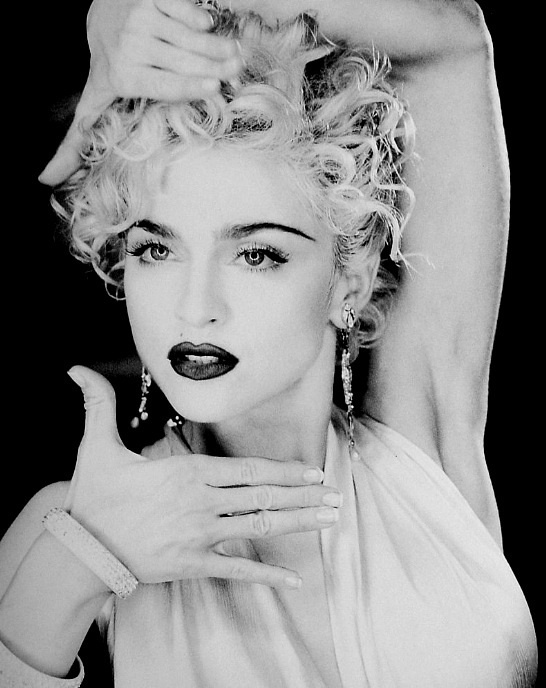 Madonna's Vogue, Classic and Timeless look.