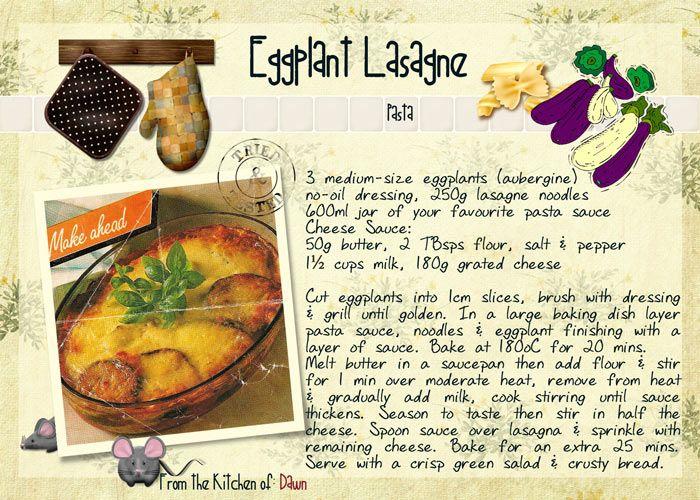 Eggplant Lasagne (Vegetarian)