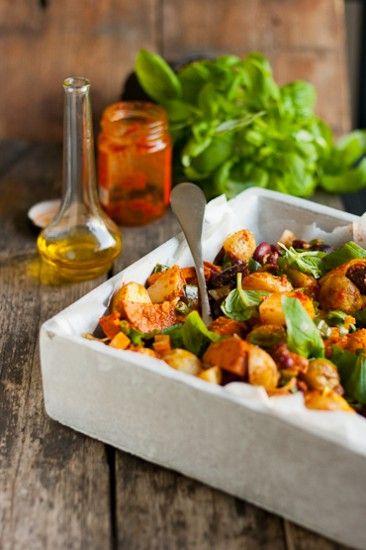 Chorizo-perunasalaatti