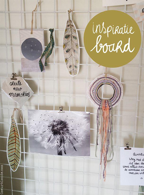 Wonen | DIY Inspiratie moodboard-rek