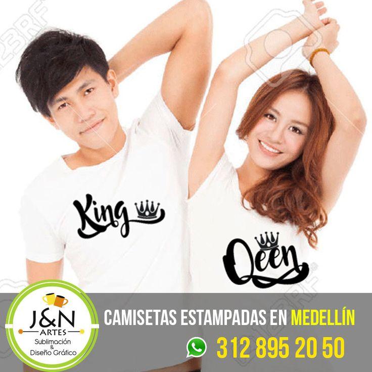 Camisetas Novios en Medellin King Queen en medellin
