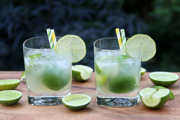 Easy recipe to prepare traditional Brazilian caipirinha cocktails, made with limes, sugar, cachaca rum liquor, and crushed ice. The perfect cocktail for the Brazil World Cup.