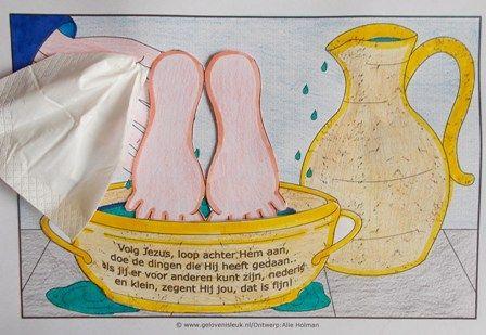 geloven is leuk - Nederig zijn - voetwassing