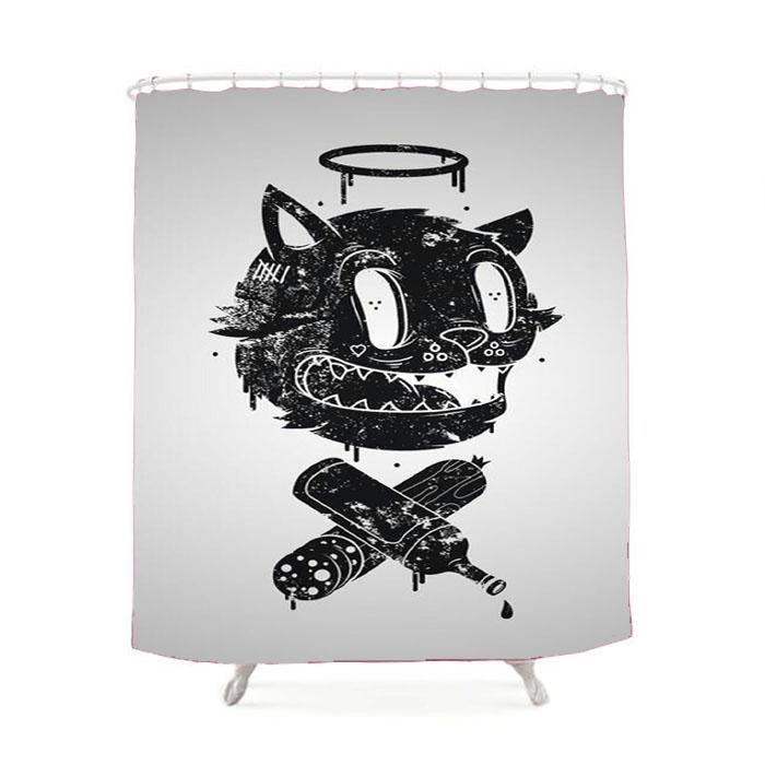 Cat Doddle Art Shower Curtain