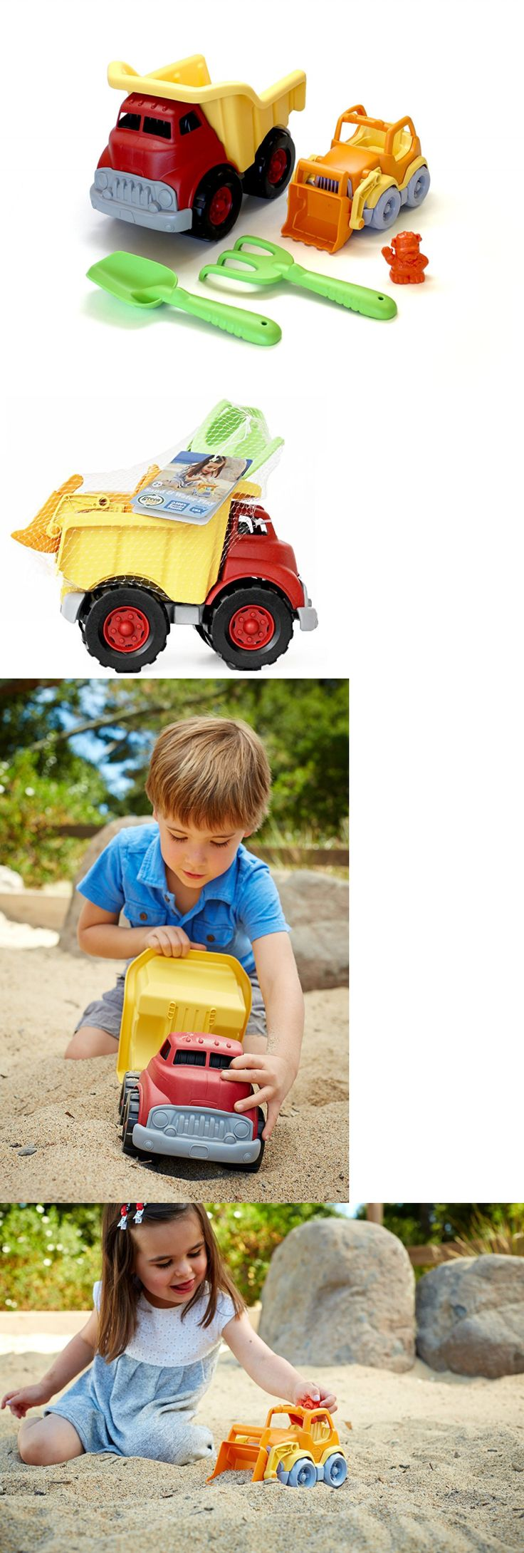 Sandbox Toys and Sandboxes 145990: Green Toys Sand And Water Play Dump Truck With Scooper -> BUY IT NOW ONLY: $33.99 on eBay!