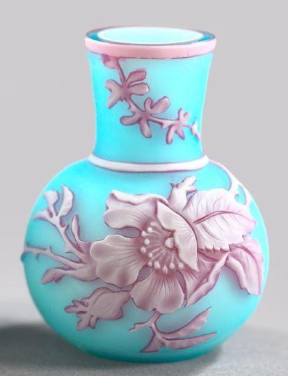 Thomas Webb cameo glass vase.