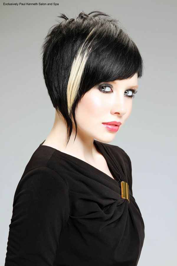 I wish I could pull off something like this.  With a red streak instead of blond.