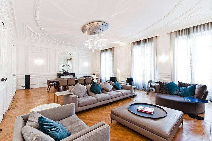 Grand salon haussmannien miko 2 pinterest taupe couleurs et meubles - Idee deco grand salon ...