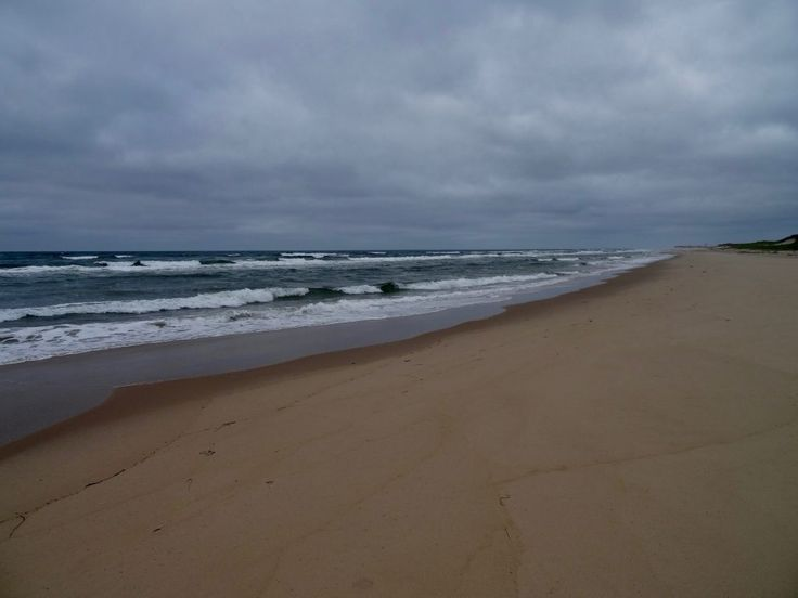 Dramatic endless beach in the Magdalen islands
