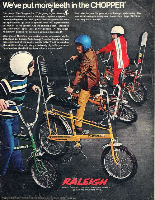 For all the kids out there who are getting a new bike for Christmas. Your Dad may have had one of these. Raleigh Chopper 1970 advert.