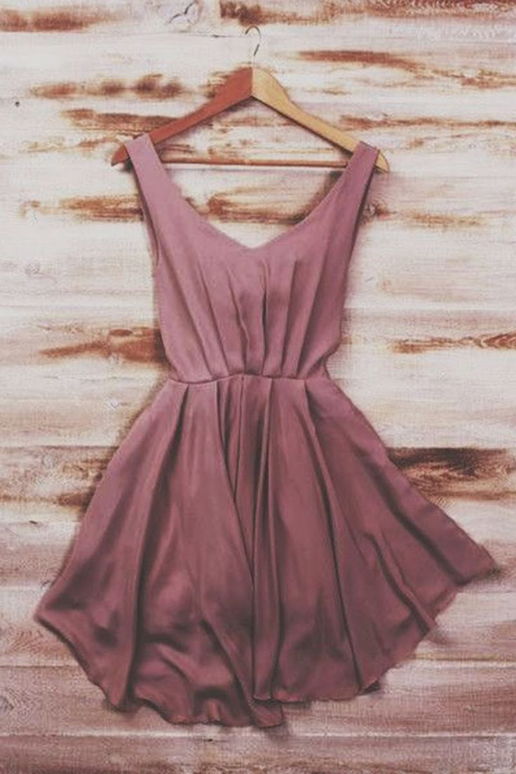 Mauve Silk Mini Dress
