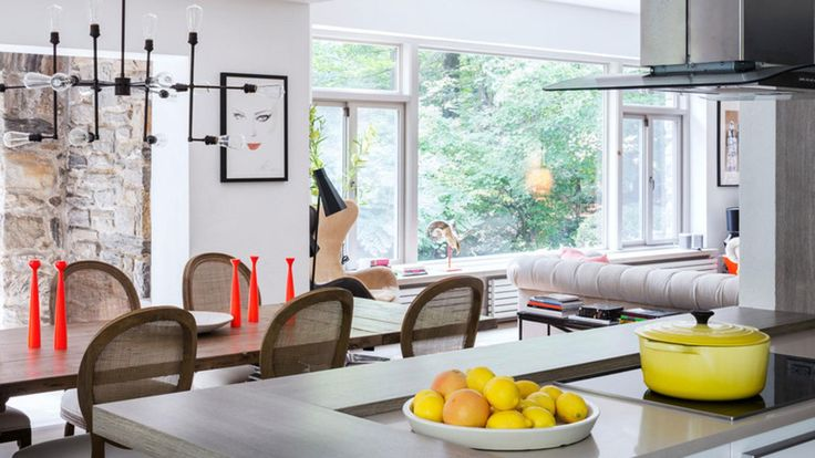 Bright, modern and cheerful, we adore supermodel Coco Rocha's kitchen! Photo courtesy of Dean Kaufman/InStyle.