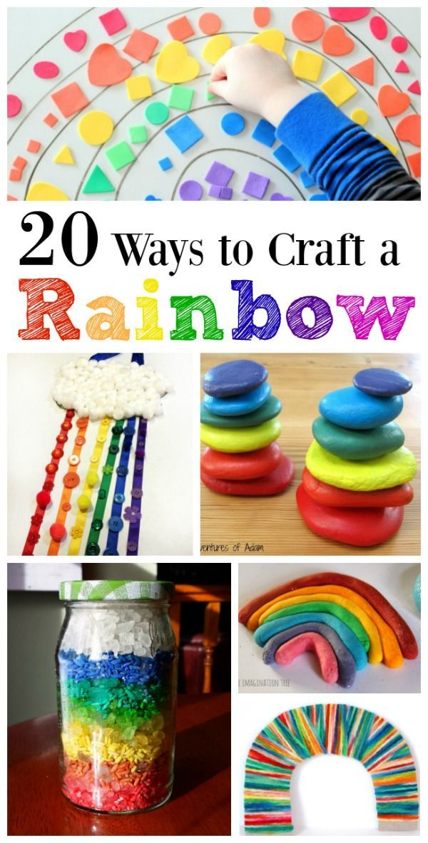 Rainbow crafts for kids | spring crafts | St Patrick's Day crafts | fun way to learn colors