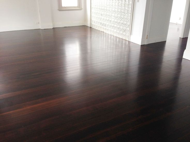 Matai flooring stained with brown oak, and a satin moisture cured polyurethane finish