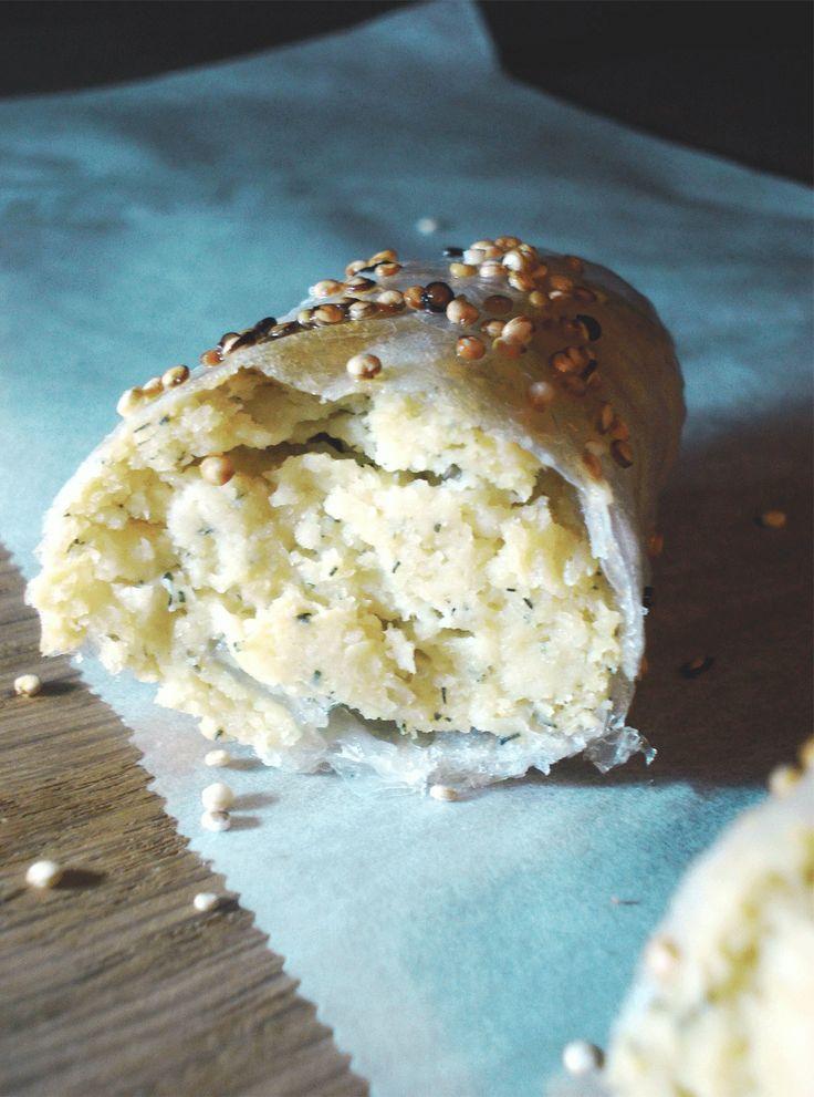 CRISPY GLUTEN-FREE VEGAN CHEESE BÖREK -- The ideal comfort food. Eat it while it's hot!