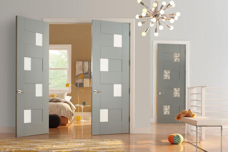 Итальянские межкомнатные двери: высокая мода в вашем доме и 60 безупречных дизайнерских решений http://happymodern.ru/italyanskie-mezhkomnatnye-dveri/ Итальянские двери в серых тонах, украшенные матовыми витражами