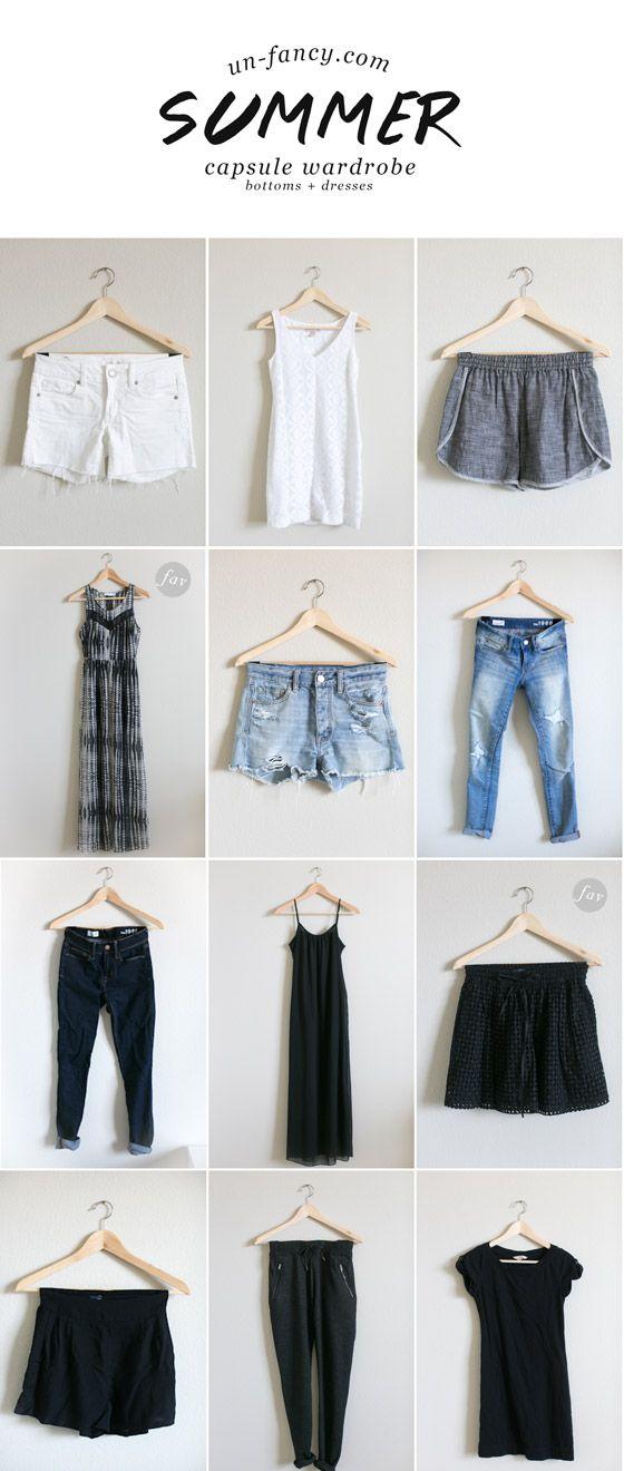 bottoms + dresses // my capsule wardrobe // summer 2014