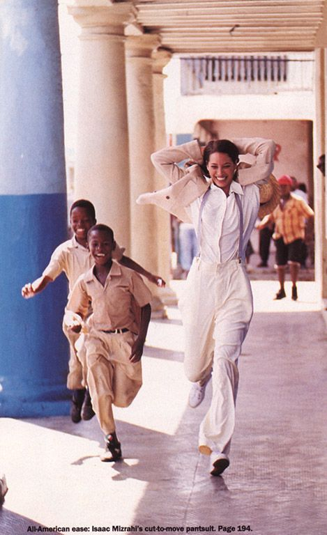 Christy Turlington | Photography by Arthur Elgort for Vogue Magazine US, February 1994