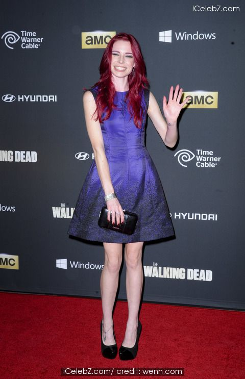 Chloe Dykstra The Fourth Season Premier of Walking Dead http://www.icelebz.com/events/the_fourth_season_premier_of_walking_dead/
