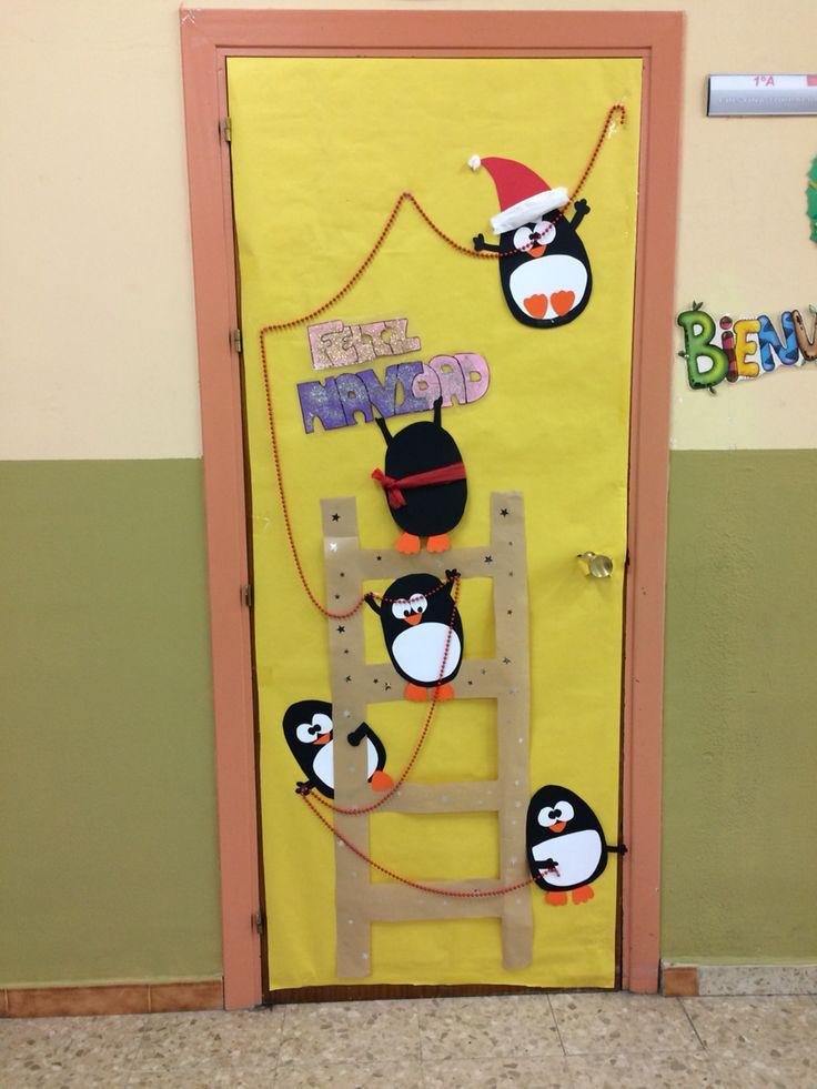 M s de 25 ideas nicas sobre puerta navidad en pinterest for Puertas decoradas santa claus