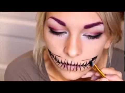 Video tutorial for that flippin' awesome Cheshire cat smile makeup. AWESOME! Archaical's Cheschire smile tutorial. // I did this for Halloween 2013 and I recommend PRACTICE. Doesn't take much to remember not to lick your lips, though you can't eat with this on.