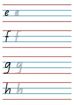Alphabet Handwriting Worksheet