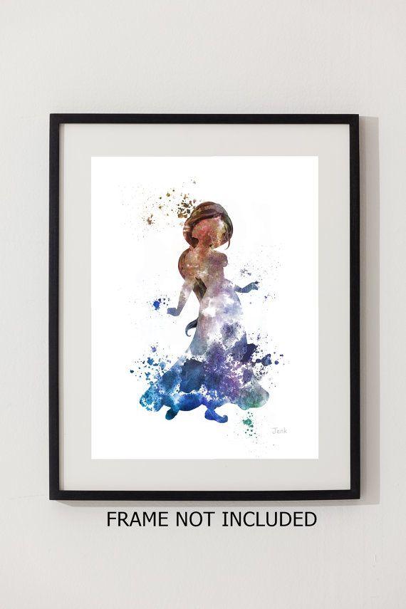 Princess Jasmine Aladdin ART PRINT 10 x 8 by SubjectArt on Etsy