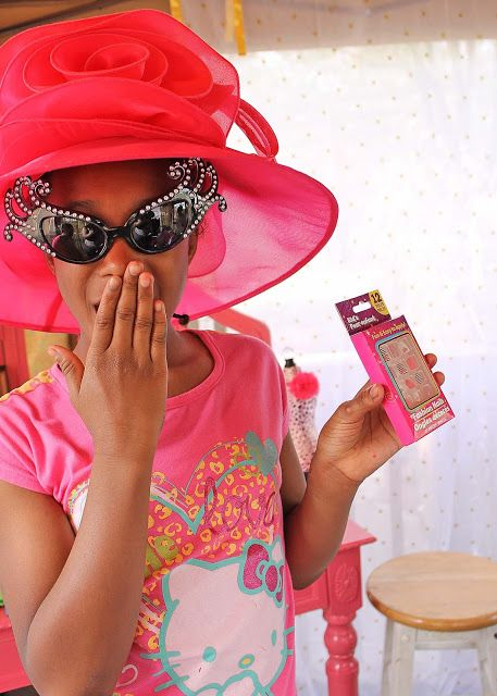 Adhesive fashion nails are a must have at a girl's fashionista party